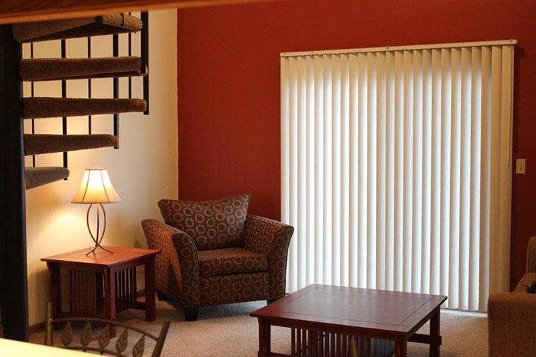 spectacular living room at Packard House Apartments in Lincoln Nebraska