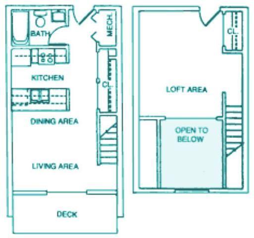 Legion one bedroom one bathroom floorplan at Packard House