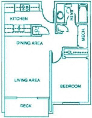 Dover one bedroom one bathroom apartment at Capitol view Apartments