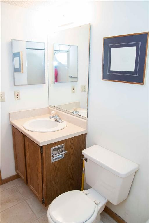 modern bathroom at Capitol View Apartments in Lincoln Nebraska