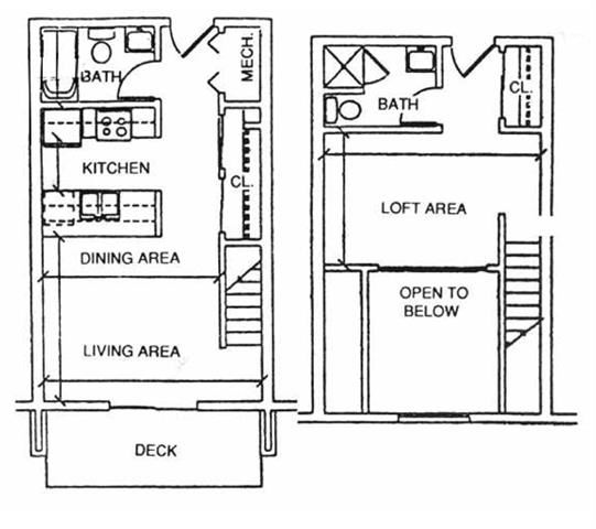 Juneau one bedroom one bathroom apartment at Capitol View Apartments