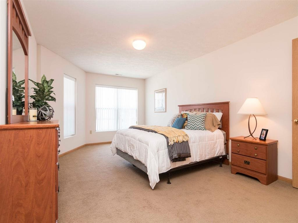 Master bedroom at Williamsburg Park Apartments in Lincoln NE