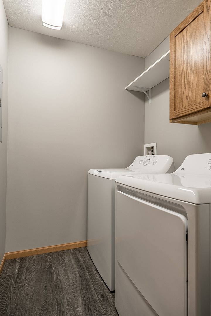 Washer and dryer available at Williamsburg Park Apartments