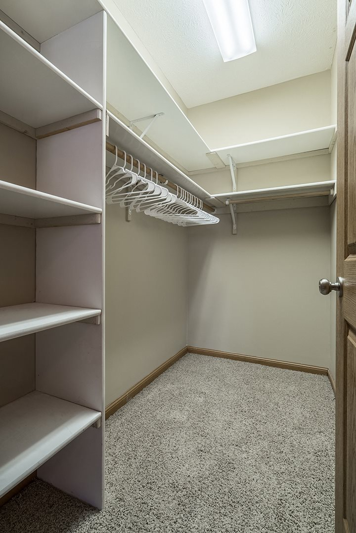 Interiors- Walk in closet at Stone Creek Villas Apartments in Omaha Nebraska