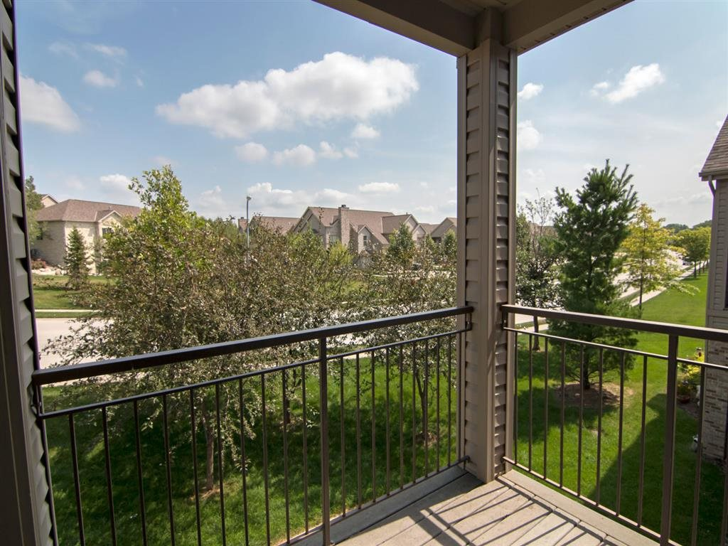 Exteriors-Stone Creek Villas Balcony View in Omaha NE