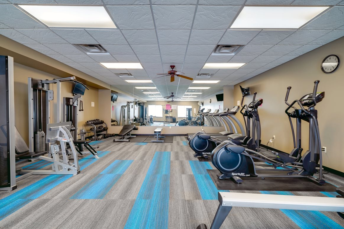 Plenty of room to achieve your fitness goals in the exercise center.