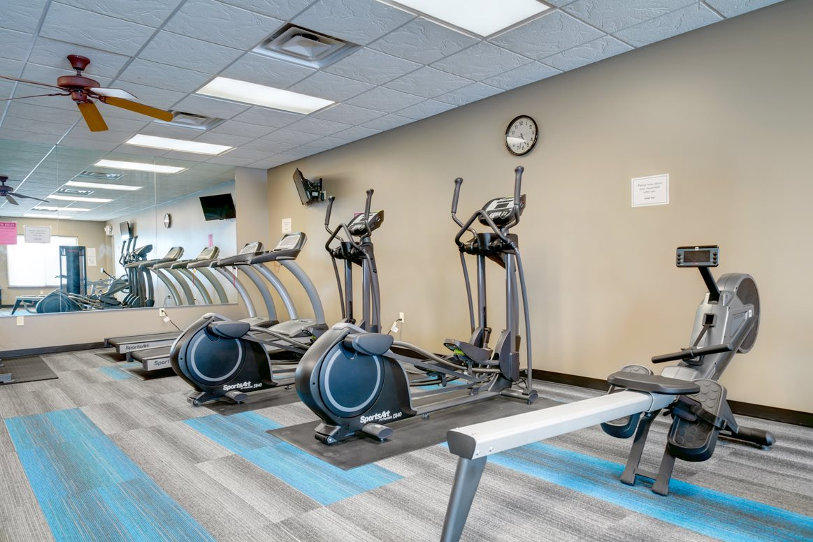 Modern equipment and plenty of space to achieve your fitness goals.