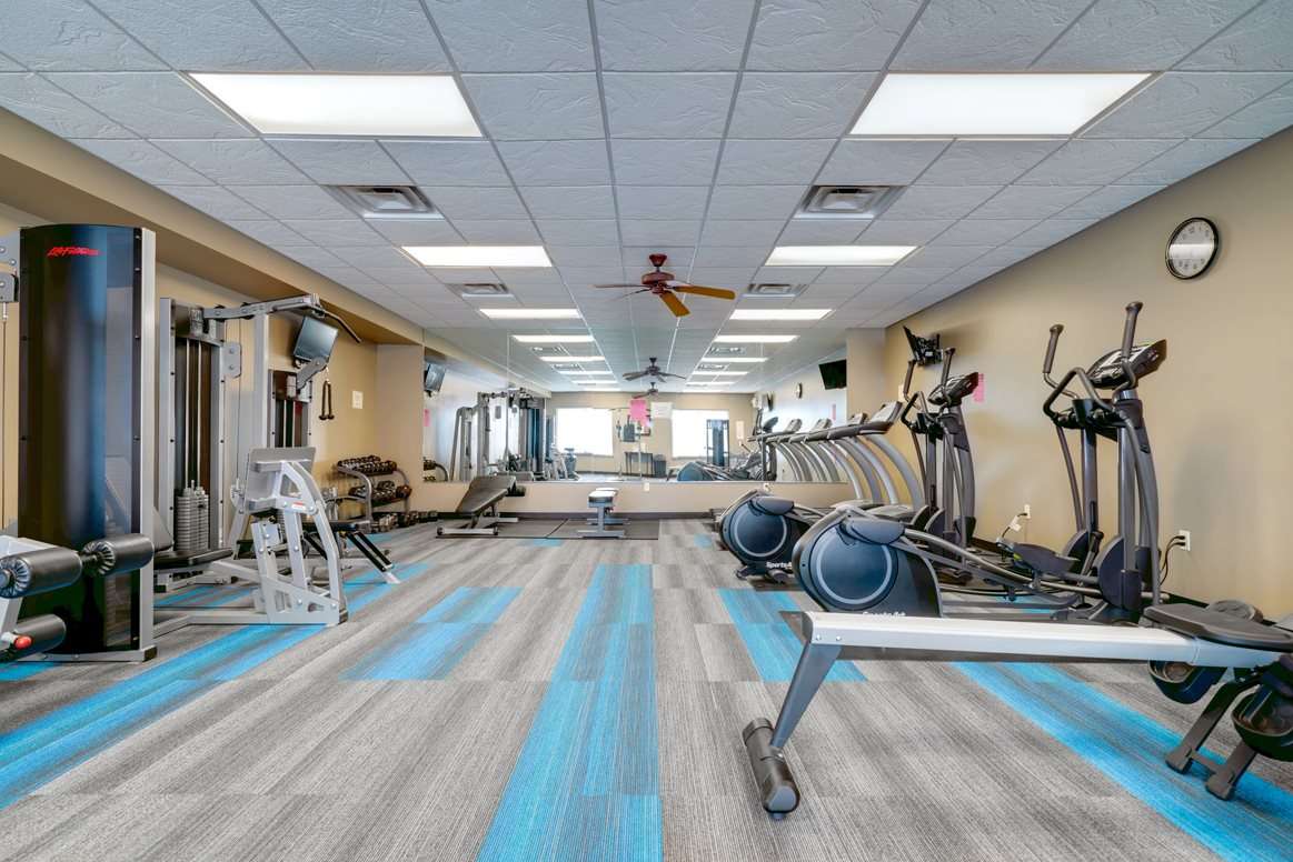 Plenty of equipment and space to achieve your fitness goals.