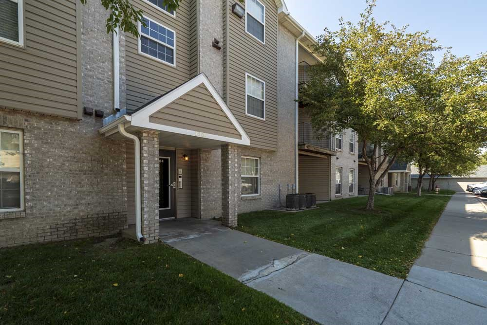 Controlled-access building entry at Eagle Run Apartments in northwest Omaha 68164