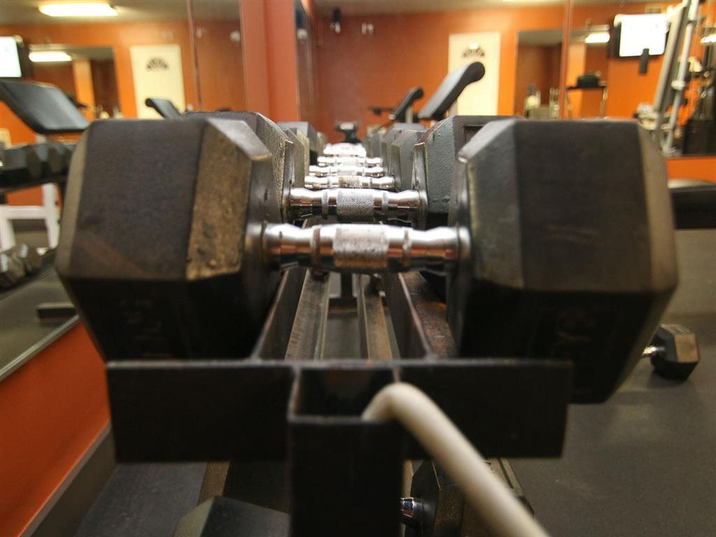 Free weights at Eagle Run Apartments in Omaha, NE