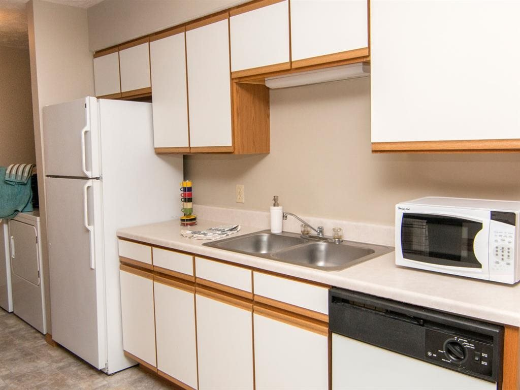 View of kitchen appliances at Eagle Run Apartments