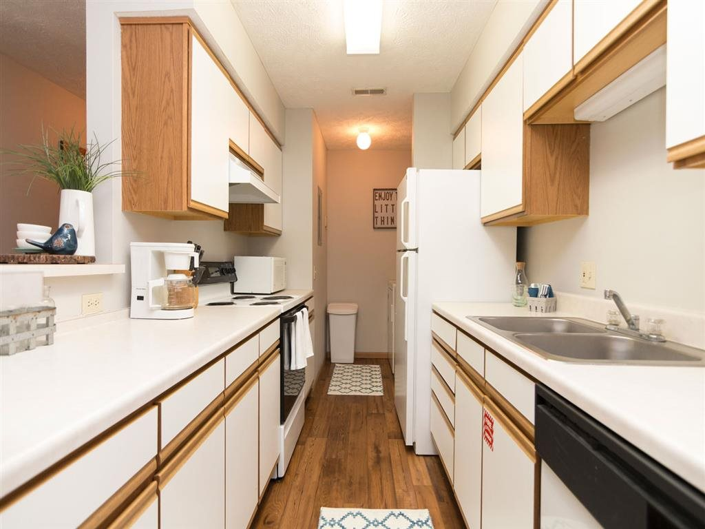 Kitchen at Eagle Run Apartments in Omaha, NE
