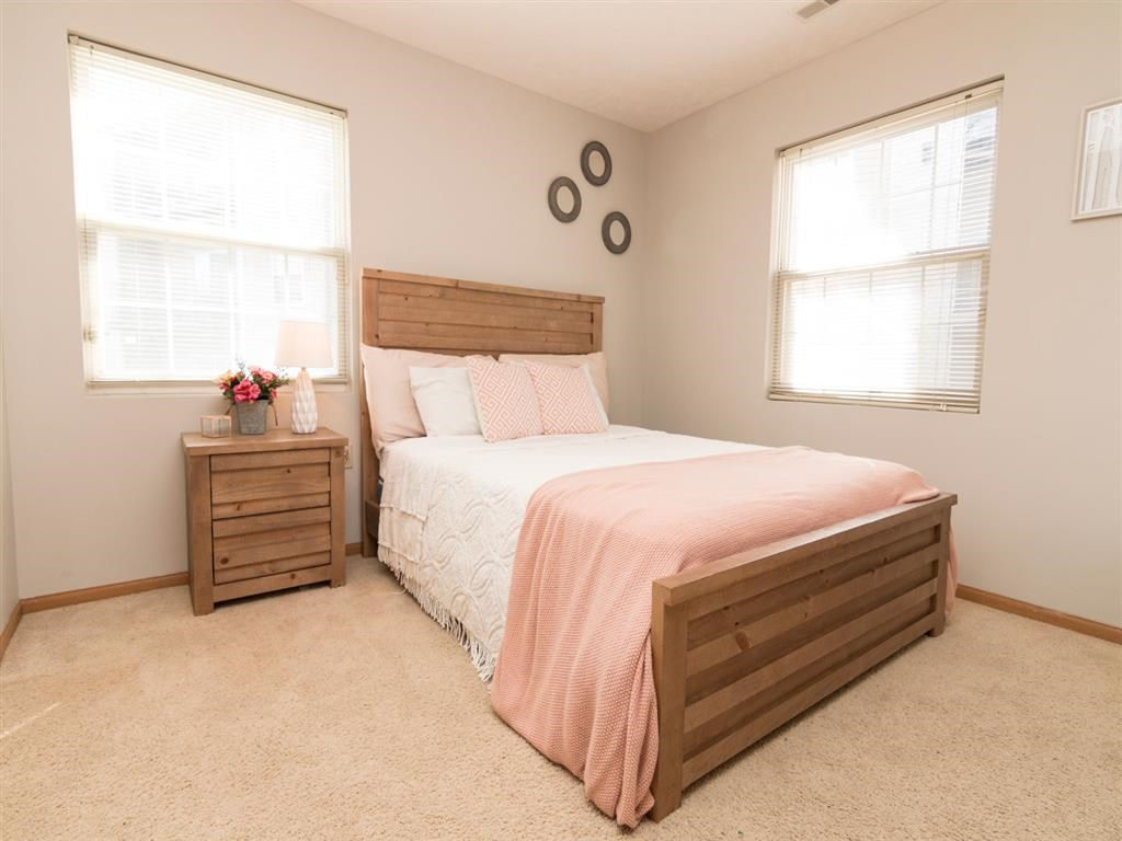 Large bedroom at Eagle Run Apartments in Omaha, NE