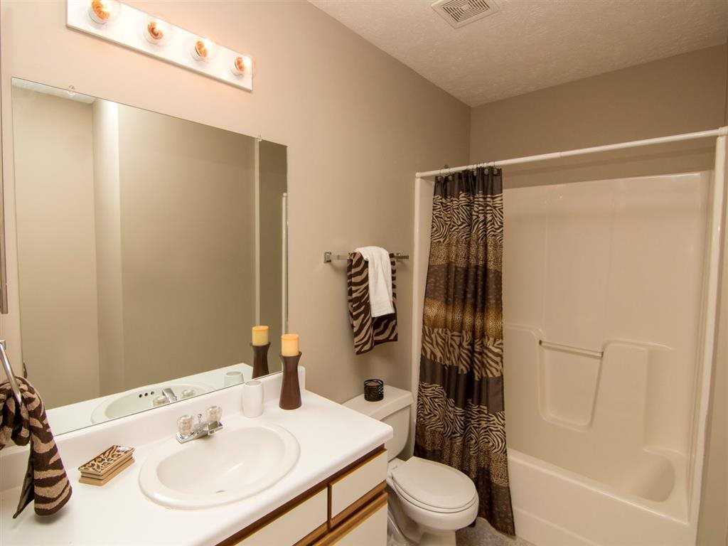 Bathroom with tub at Eagle Run Apartments in Omaha, NE
