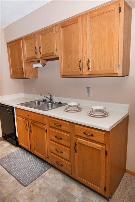 Spacious kitchen at Oakwood Trail Apartments in Omaha NE