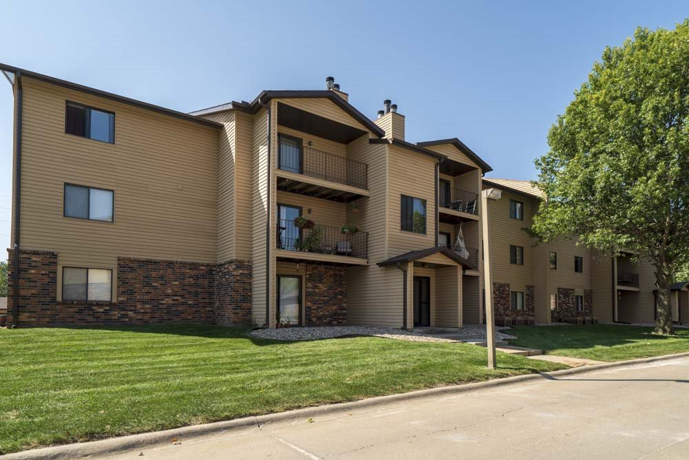 Large balconies and patios with every apartment at at Oakwood Trail Apartments in northwest Omaha, NE, 68164