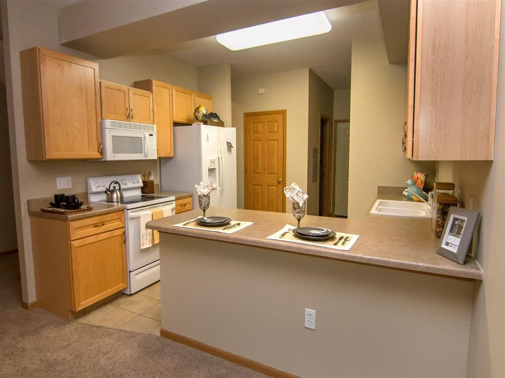 spacious kitchen at Southwind Villas in La Vista Nebraska