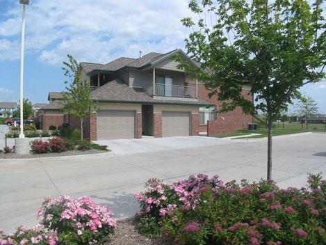 exterior with landscaping at Southwind Villas in La Vista Nebraska