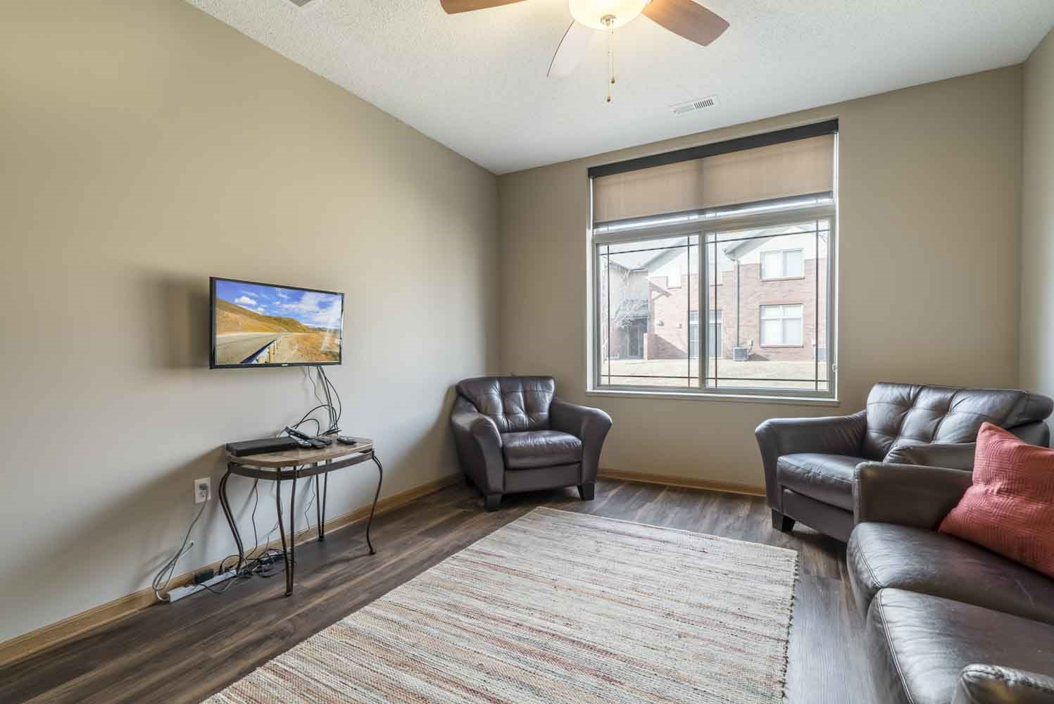 Living room in a two-bedroom townhome at Southwind Villas in southwest Omaha in La Vista, NE, 68128