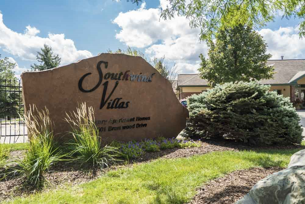 Entrance sign to Southwind Villas in La Vista, NE, 68128