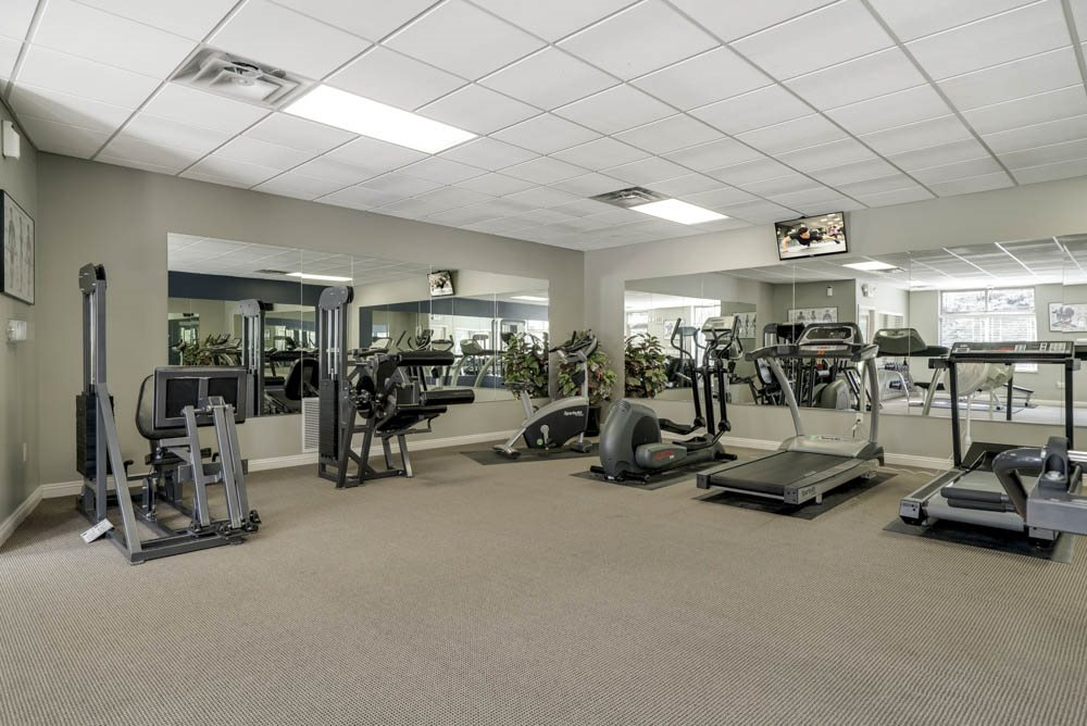 Treadmills and weightlifting machines at Southwind Villas in southwest Omaha in La Vista, NE, 68128