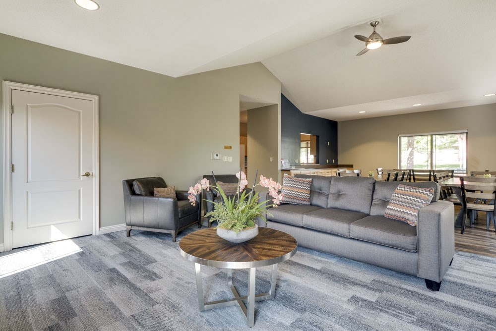 TV lounge and social seating at Southwind Villas in southwest Omaha in La Vista, NE, 68128