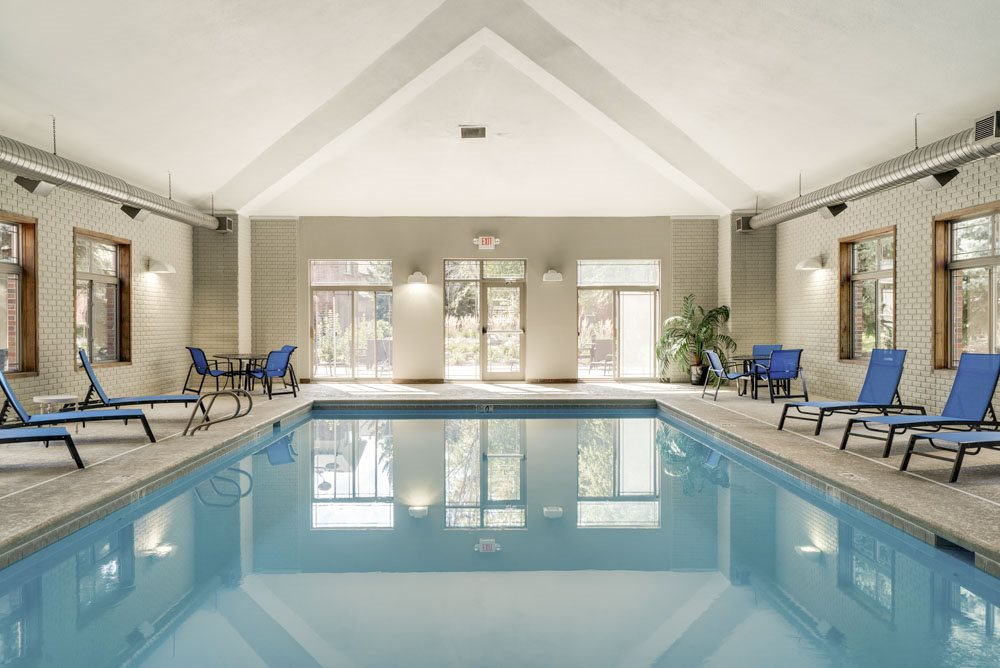 Indoor swimming pool at Southwind Villas in southwest Omaha in La Vista, NE, 68128