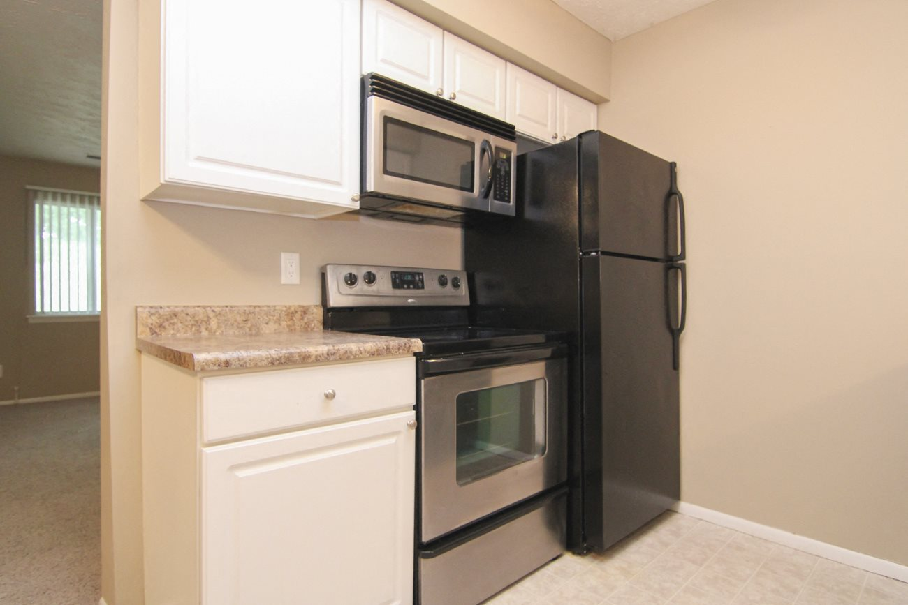 Interiors-Place 72 Apartments kitchen with new appliances