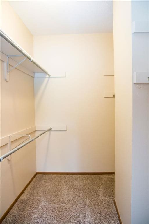 Walk in closet for extra storage at Wyndham Heights Apartments