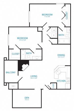 2 bedroom den