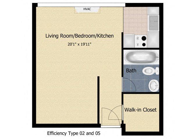 Tabco Towers Efficiency Floor Plan