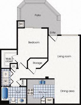 Floor plan A1, 909 West Apartment Homes, One bedroom, Arizona, 85283