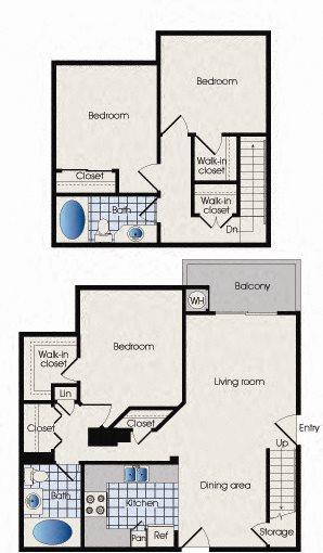 909 West Apartment Homes, Floor plan, C1, three bedroom, West Grove Pkwy, Tempe, Arizona