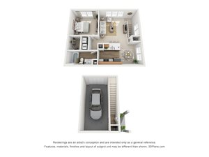 1 Bedroom, 1 Bath 808 sq. ft. (CH)