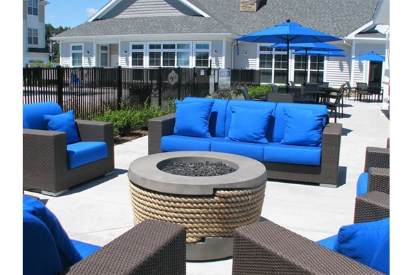 Fire Pit & Lounge Area, Post and Main Apartment Homes in Old Saybrook, Connecticut