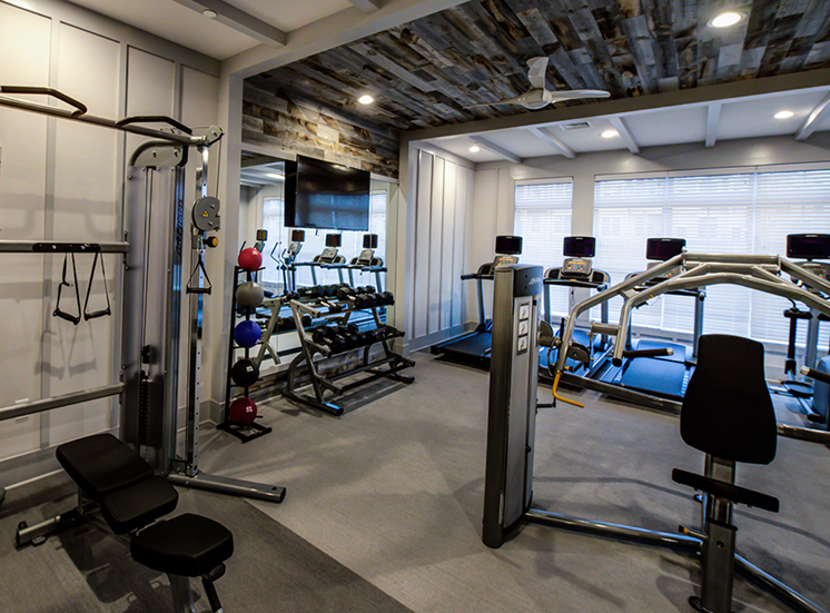 Club-quality athletic studio with state-of-the-art cardio equipment