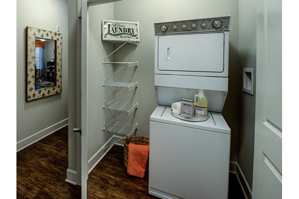 Individual Washer and Dryer in apartments at Post and Main Apartment Homes at 7 North Main Street, CT