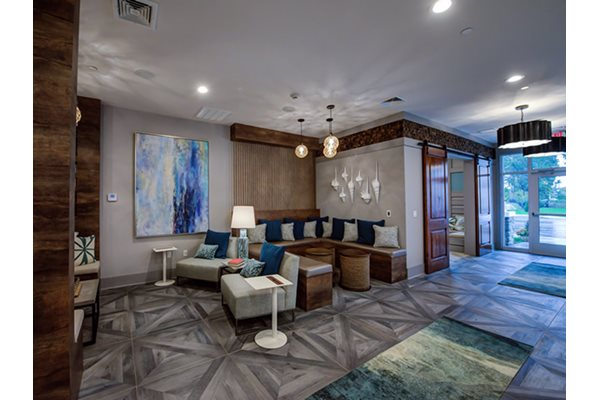 Upscale Resident Lounge at Post and Main Apartments, in Old Saybrook, CT