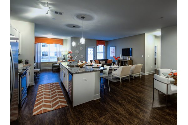 Kitchen Island & Breakfast Bar, Old Sayrbook, CT, Post and Main Apartment Homes