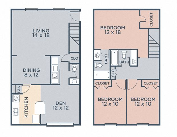 Montgomery (3.25a) FloorPlan at Barrington Estates Apartments, Indianapolis, 46260