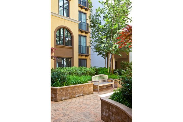 Lushly Landscaped Courtyard, Concord, California