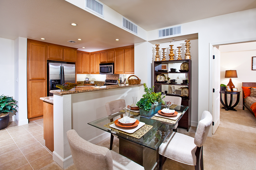 Full kitchens, modern appliances, island and breakfast bar, 1825 Galindo Street