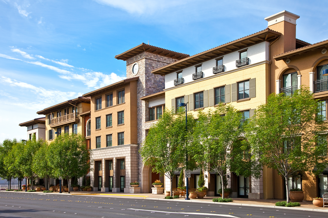 Street view of Renaissance Square Apartments, in Concord, CA