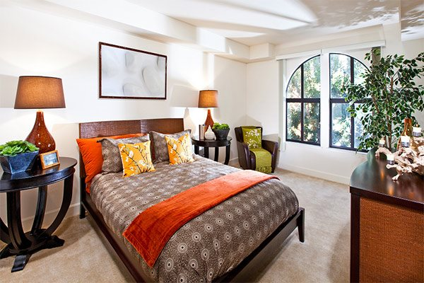 Master suite, well-lighted, plush carpeting, in Renaissance Square Apartments, CA, Concord