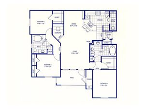 St Croix Floorplan at The Club of the Isle, TX, 77554