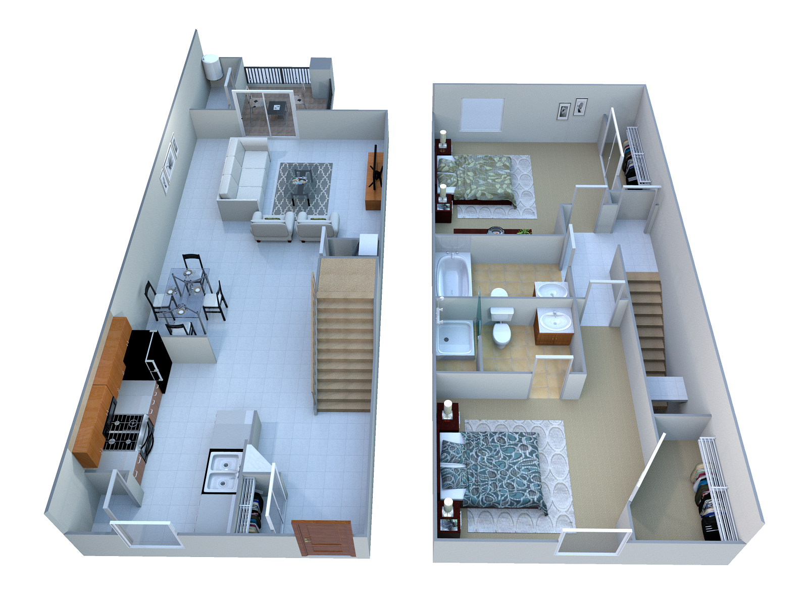 2 Bed. TH Floor Plan 2