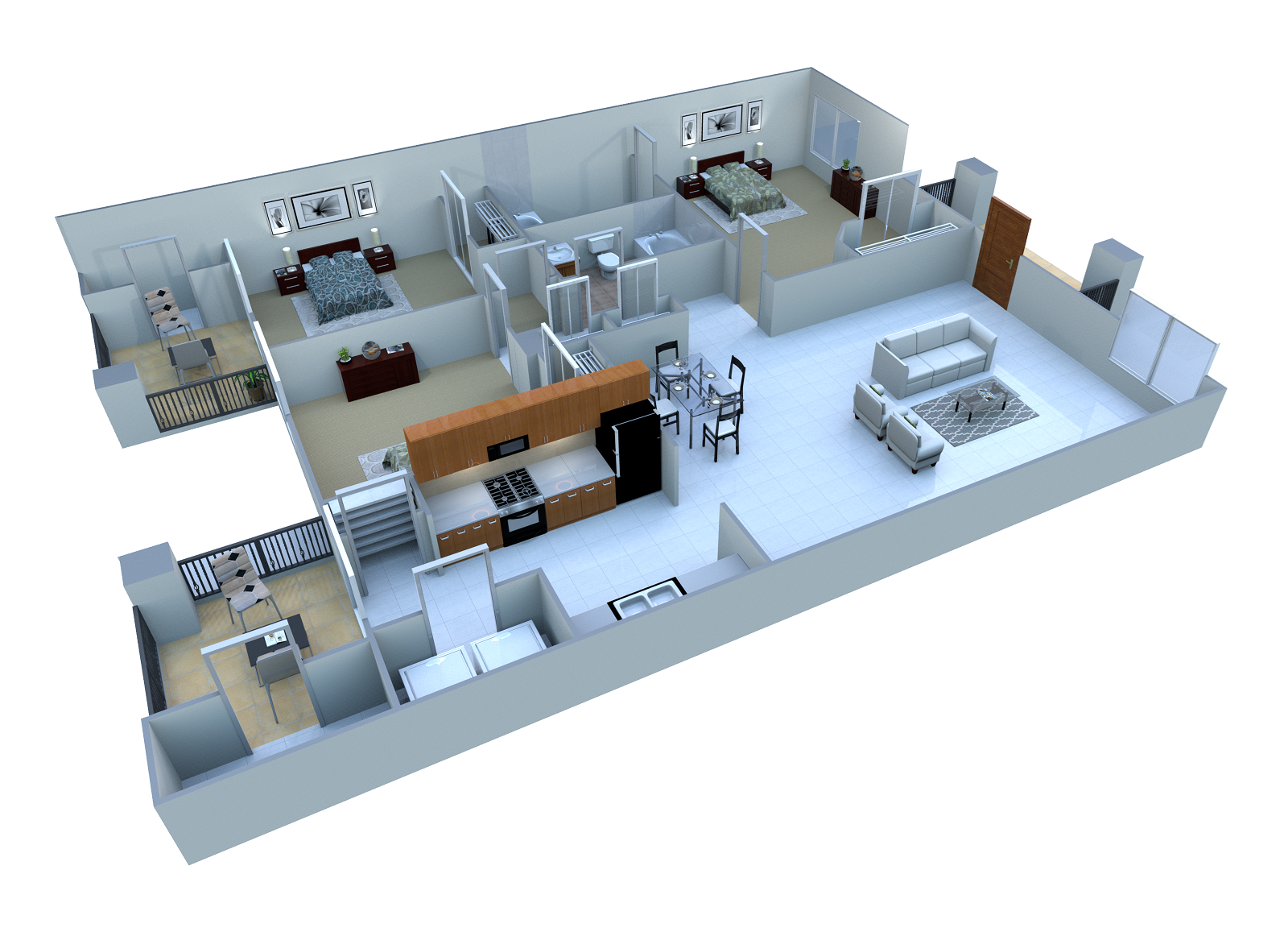 3 Bed. B Floor Plan 4