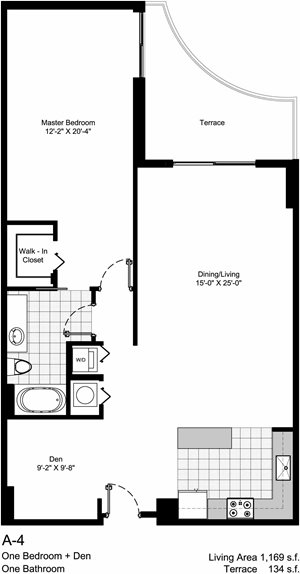 Large One Bedroom/One Bedroom with Den