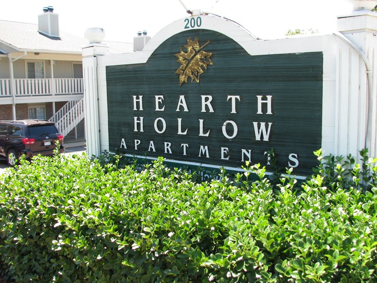 Entrance at Hearth Hollow in Derby, KS