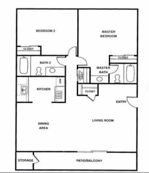 By the room co-living in 2 bedroom Floor Plan 2